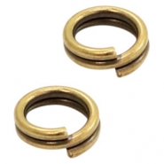 Fornituras metálicas DQ anillo doble 5mm bronce viejo (sin níquel)