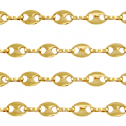 Fornituras Acero Inox cadena jasseron puffed anchor mariner links Dorado