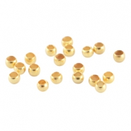 Chafas metálicas DQ 2.0mm oro (sin níquel)