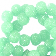 Abalorios brillantes 6mm verde crisolita