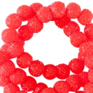 Abalorios brillantes 6mm rojo candy