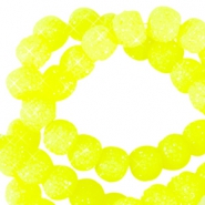 Abalorios brillantes 8mm amarillo neón
