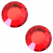 Swarovski Elements SS30 base plana (6.4mm) Light siam red