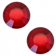 Swarovski Elements SS30 base plana (6.4mm) Siam red