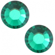 Swarovski Elements SS20 base plana (4.7mm) Emerald green