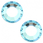 Swarovski Elements formas diversas SS16 base plana (3.9mm) Aquamarine blue