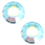 Swarovski Elements SS20 base plana (4.7mm) Aquamarine blue aurore boreale