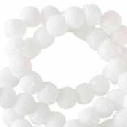Abalorios brillantes 6mm blanco